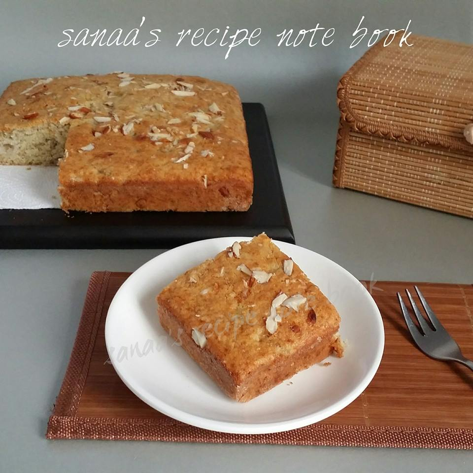 Banana Cake - sanaa's recipe