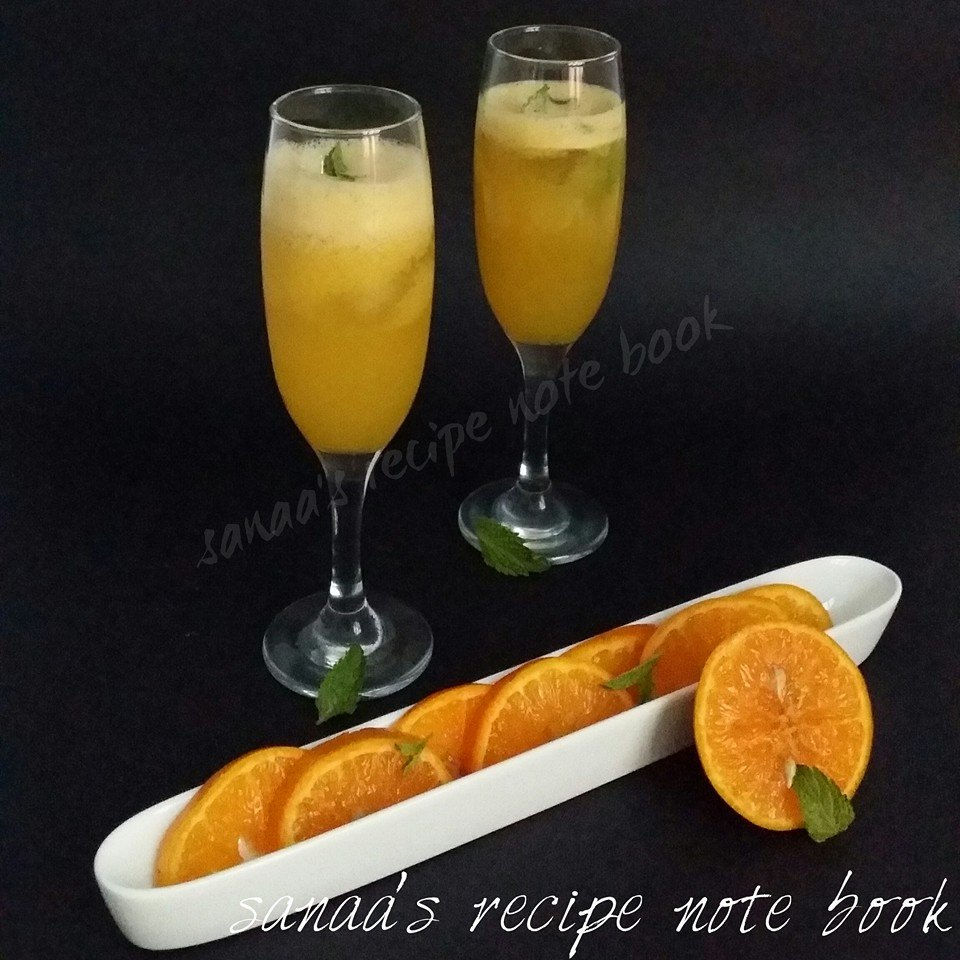 Orange Mint Cooler - sanaa's recipe