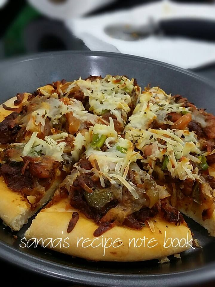 Chili Chicken Pizza - sanaa's recipe