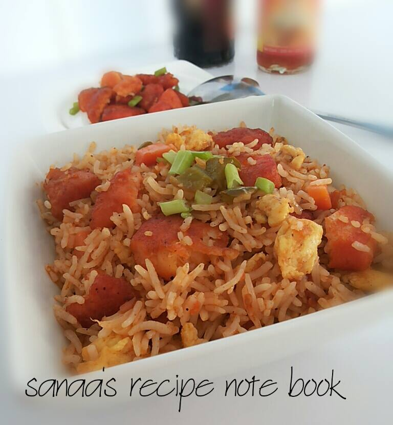 Chilli Fish Fried Rice With Egg - sanaa's recipe