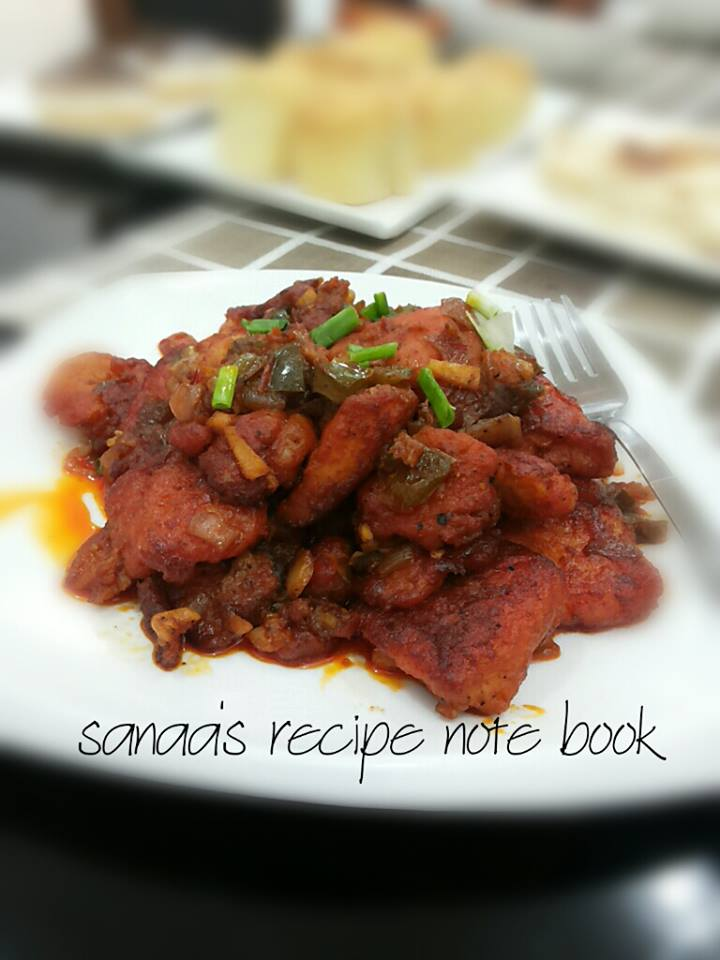 Chilli Fish - sanaa's recipe