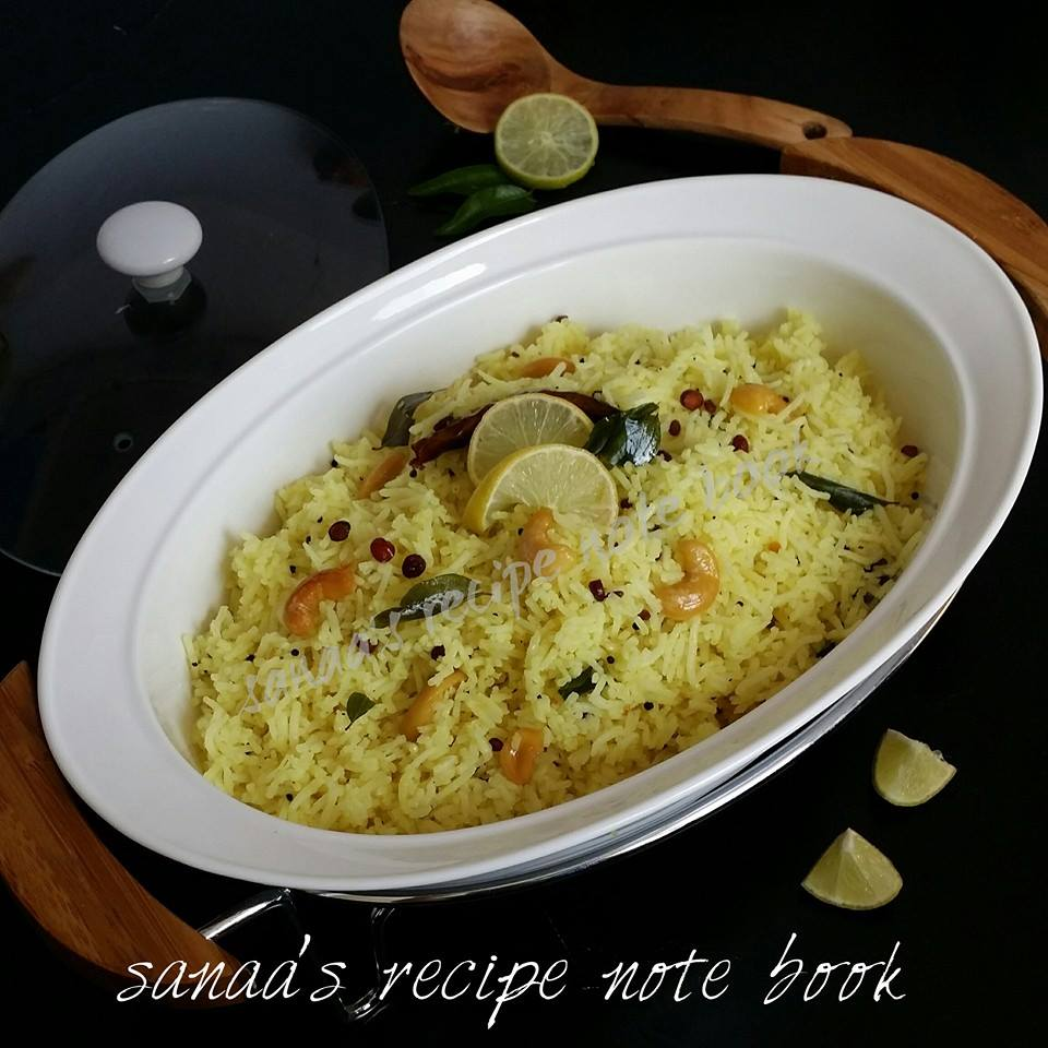Lemon Rice - sanaa's recipe