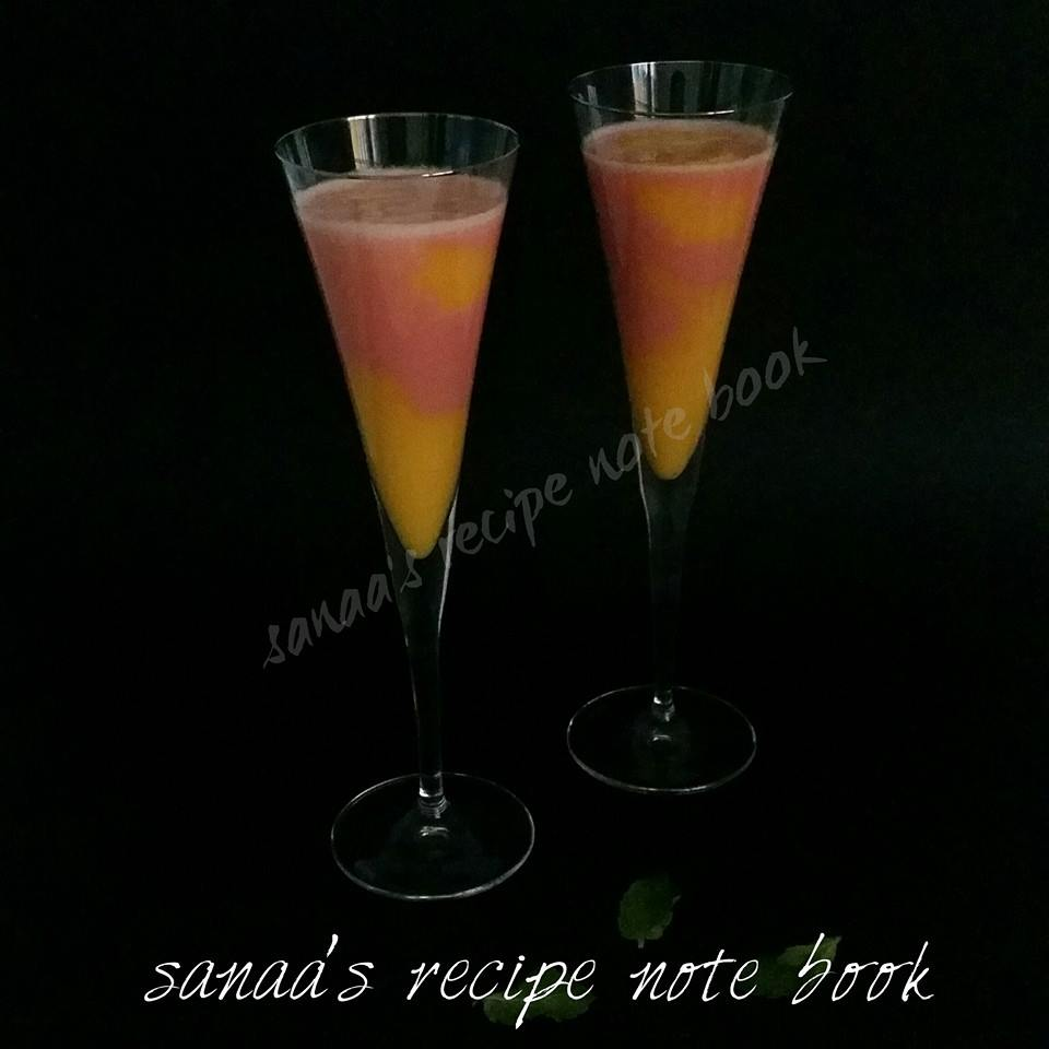 Mango - Watermelon Smoothie - sanaa's recipe