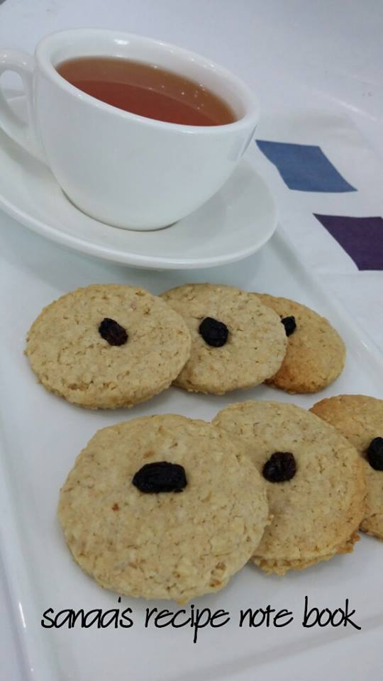 Oats And Wheat Cookies - sanaa's recipe
