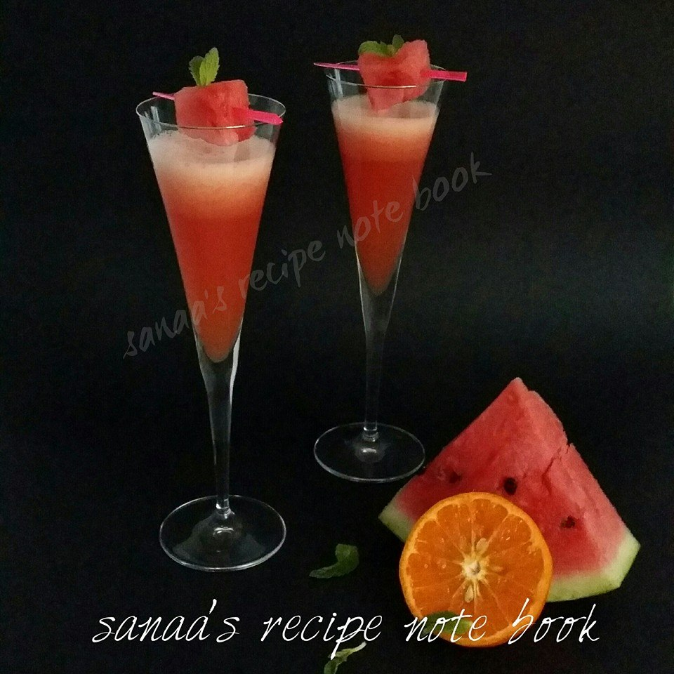 Orange-Watermelon Punch - sanaa's recipe