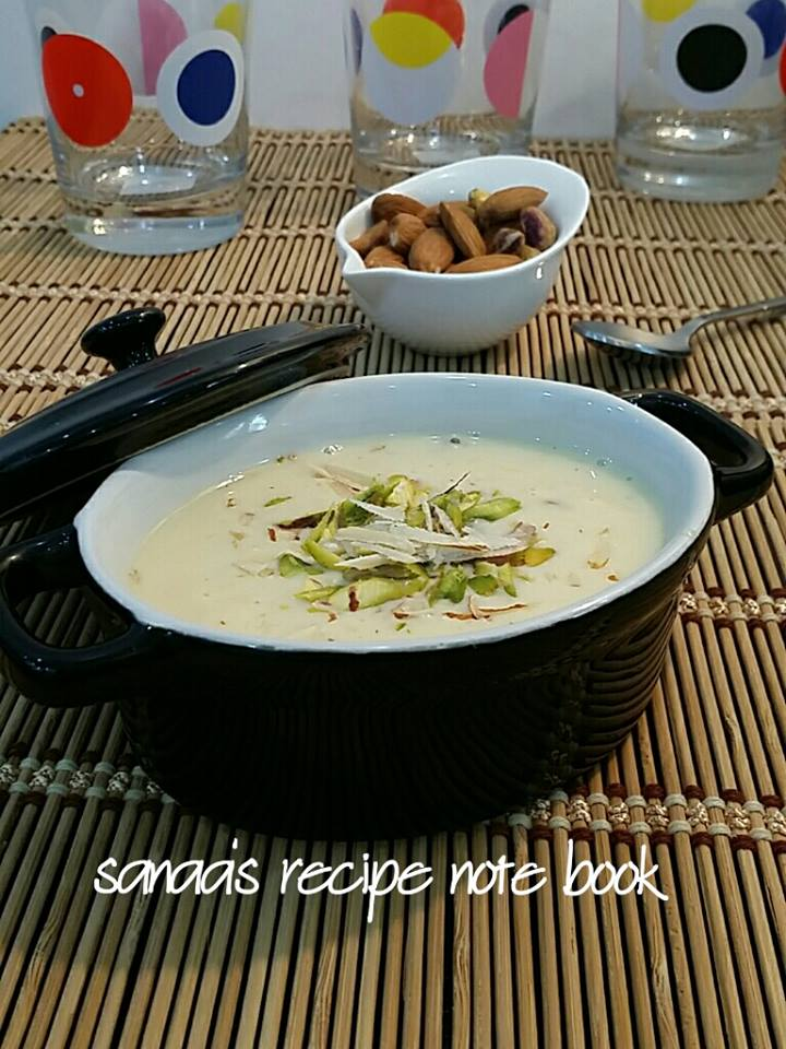 Rabri (thick n creamy sweet milk) - sanaa's recipe