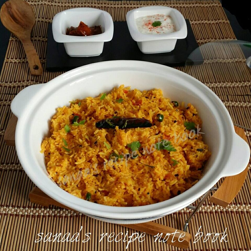 Tomato Rice - sanaa's recipe