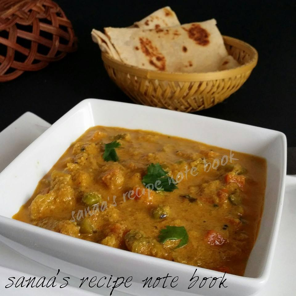 Vegetable Korma - sanaa's recipe