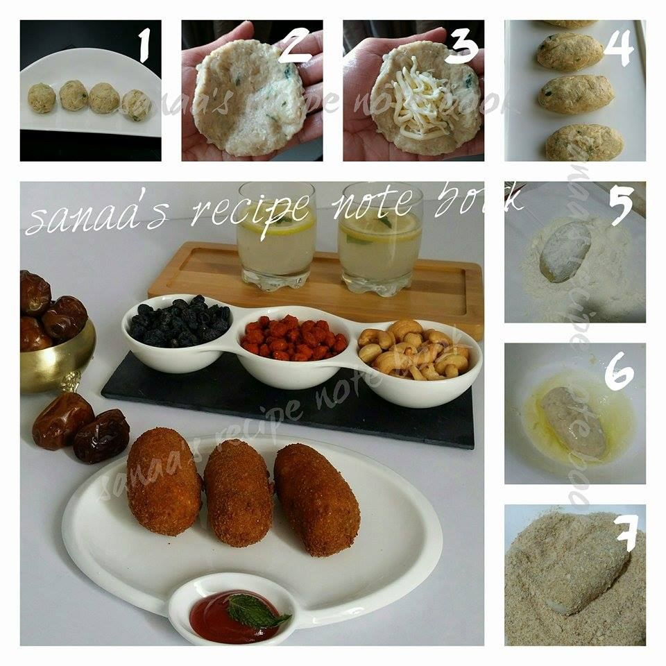 Cheese Stuffed Chicken Croquettes - sanaa's recipe