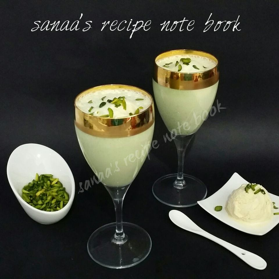 Pistachio Ice Cream Milk Shake - sanaa's recipe