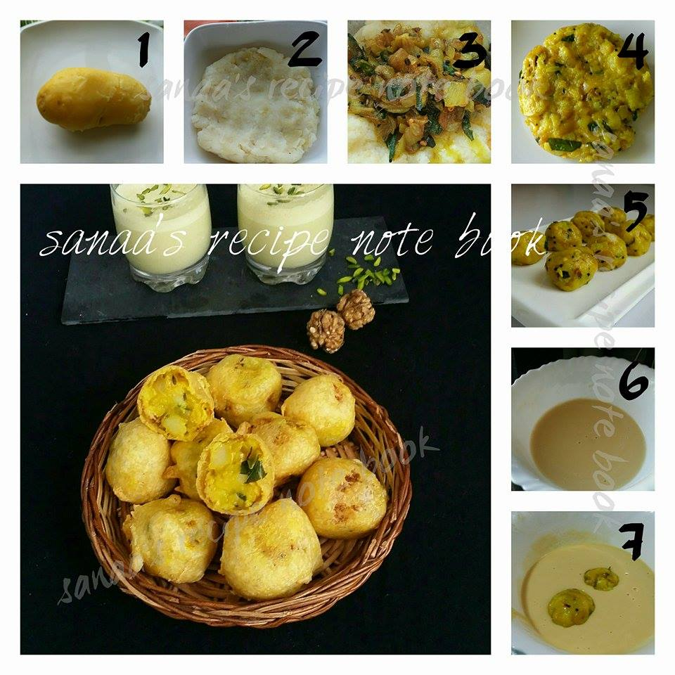 Fried Potato Dumplings / Aloo Bonda - sanaa's recipe