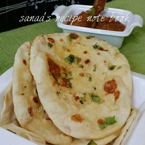 Butter Garlic Naan - sanaa's recipe
