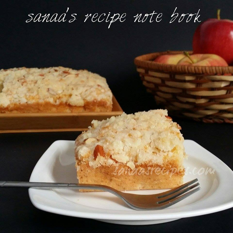 Apple Cake With Streusel Topping - sanaa's recipe