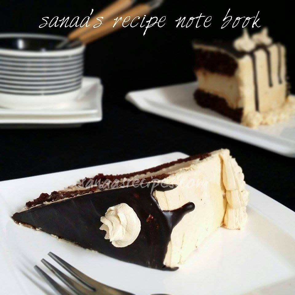 Chocolate Peanut Butter Cheesecake Cake - sanaa's recipe