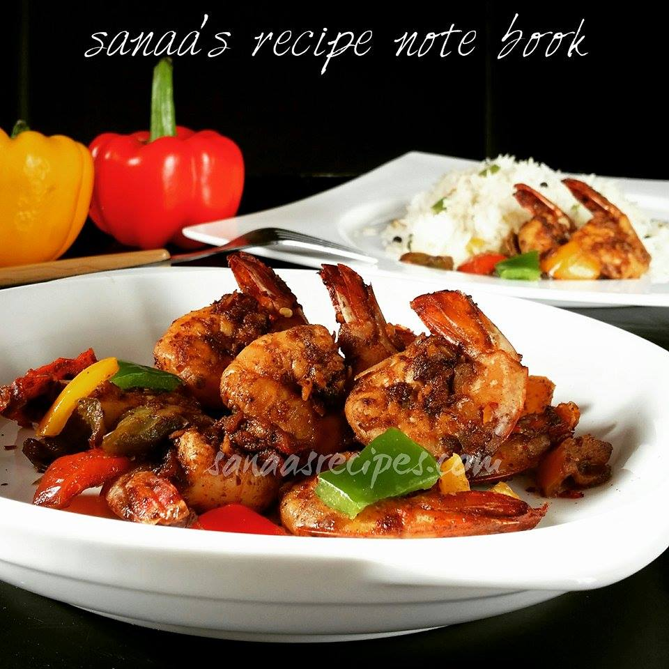 Butter Prawns With Bell Pepper - sanaa's recipe