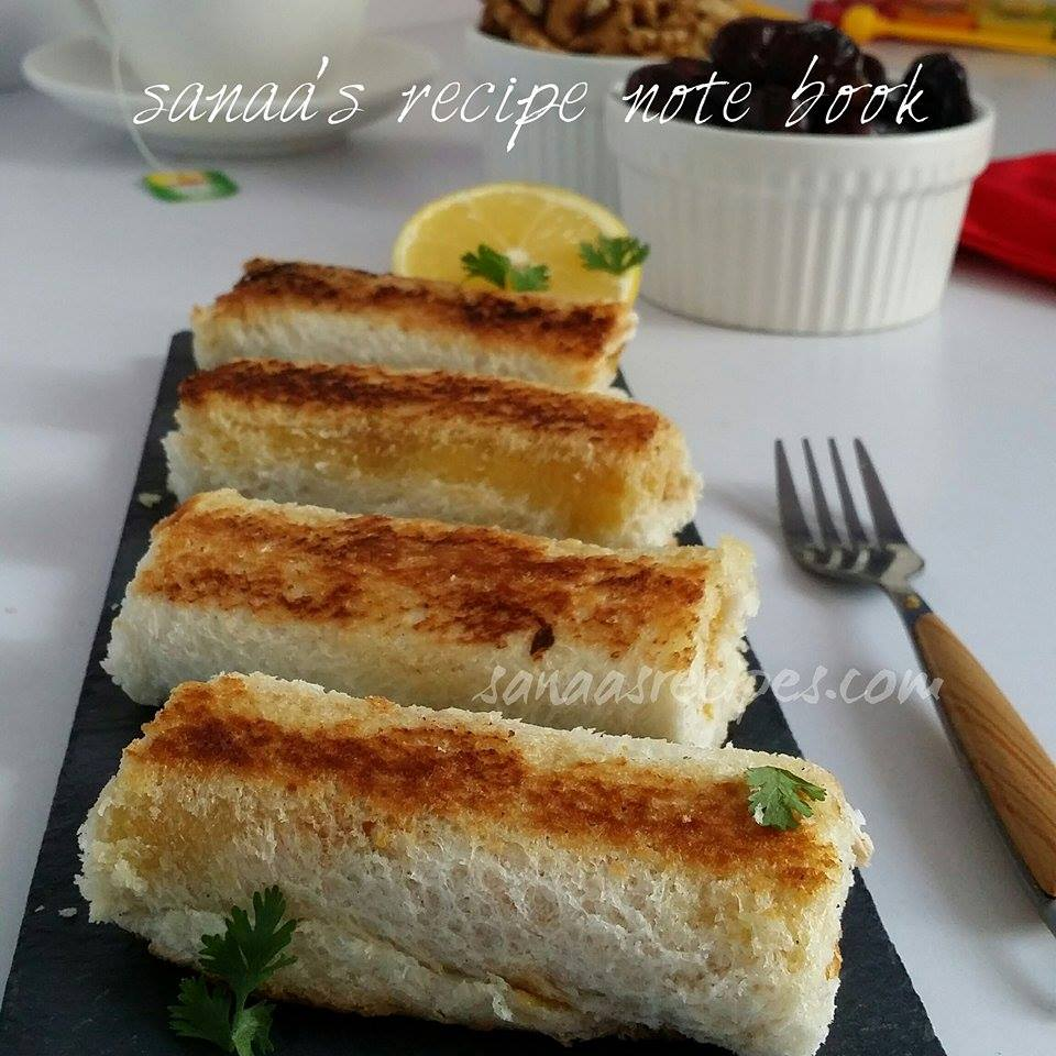 Bread Sticks With Chicken Filling - sanaa's recipe