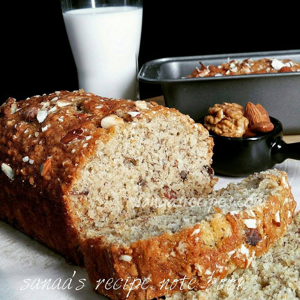 Oats Banana Cake - sanaa's recipe