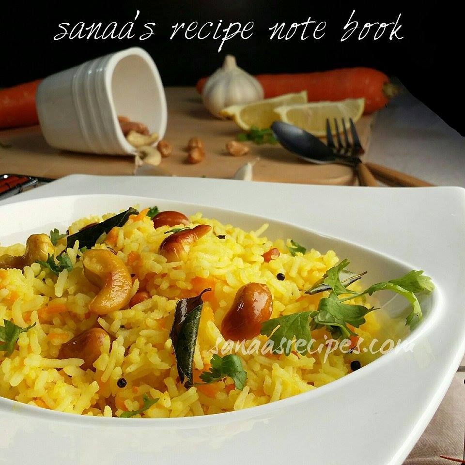 Carrot Rice - sanaa's recipe