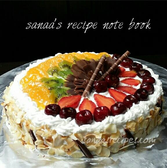 Fresh Fruit Cake - sanaa's recipe