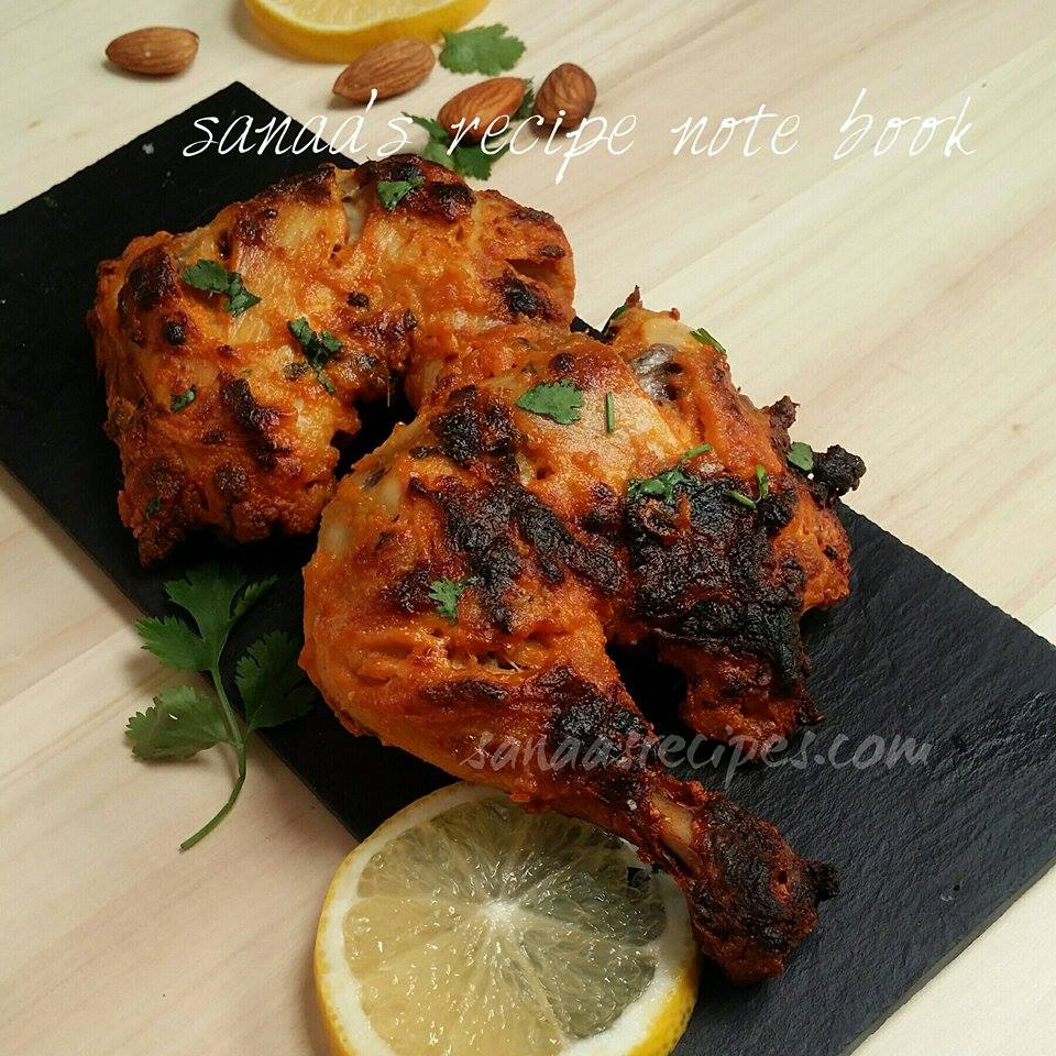 Grilled Almond Chicken/ Badami Murgh - sanaa's recipe