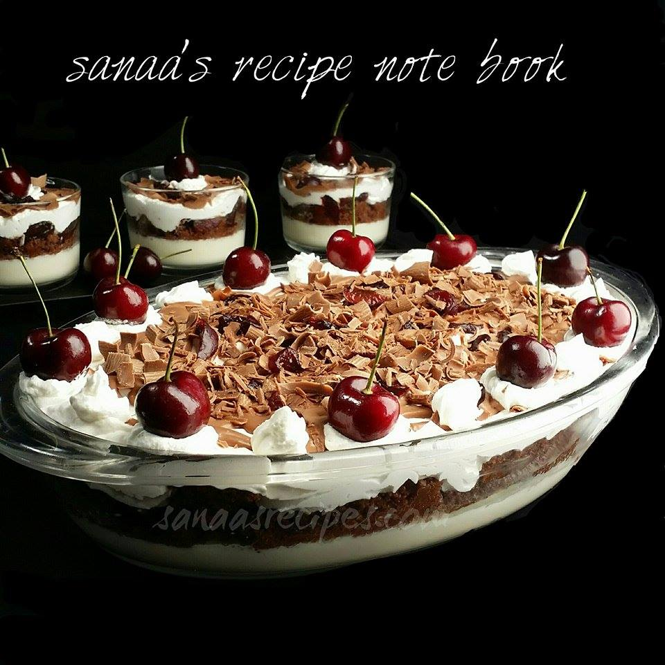 Black Forest Pudding - sanaa's recipe