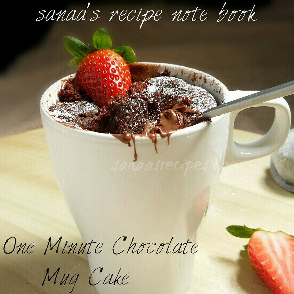 One Minute Chocolate Mug Cake - sanaa's recipe