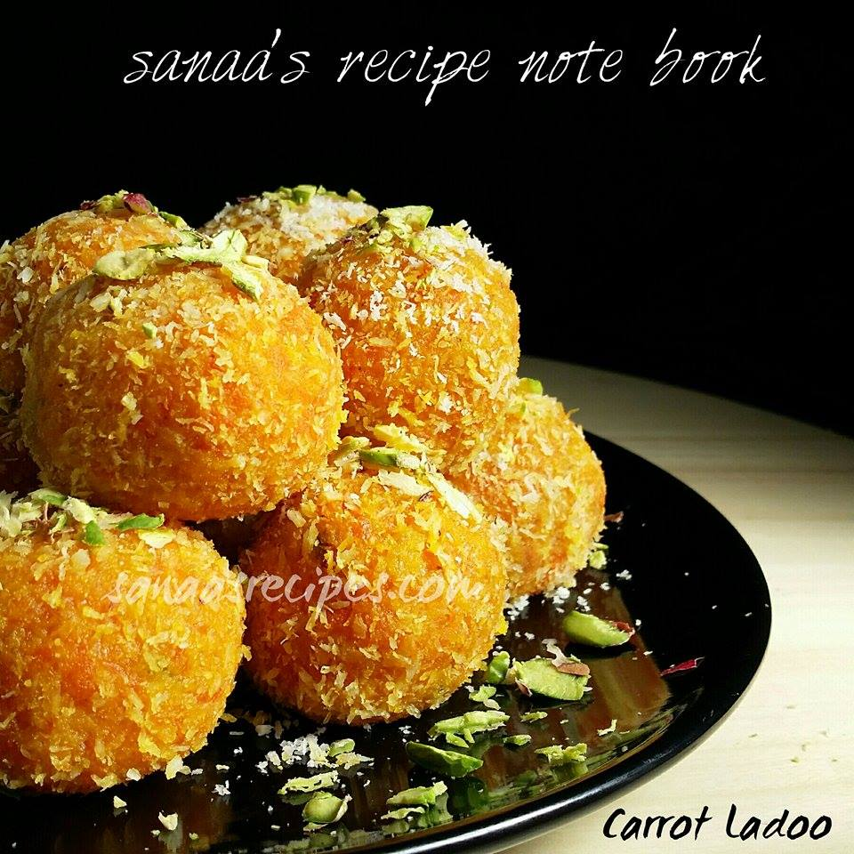 Carrot Ladoo - sanaa's recipe