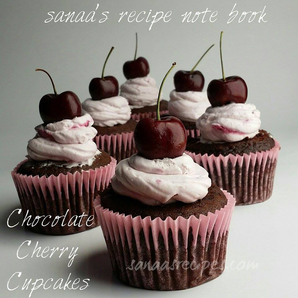 Chocolate Cherry Cupcakes - sanaa's recipe
