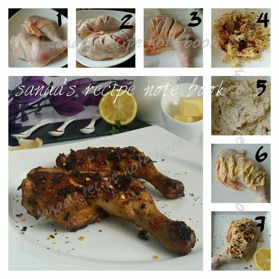 Butter Garlic Chicken Whole Leg Fry - sanaa's recipe