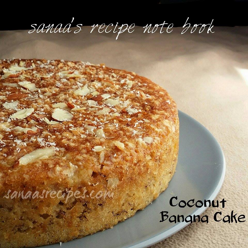 Coconut Banana Cake - sanaa's recipe