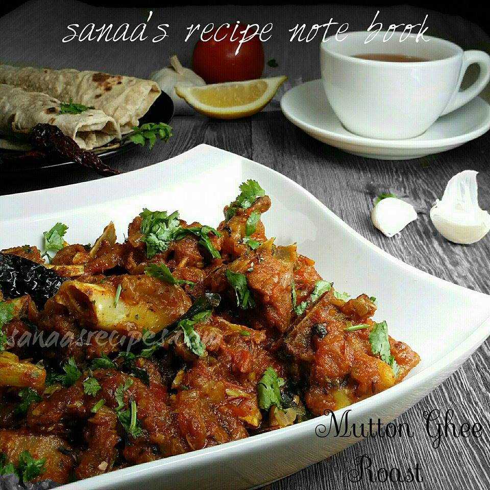Mutton Ghee Roast - sanaa's recipe