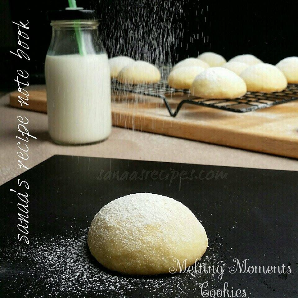 Melting Moments Cookies - sanaa's recipe