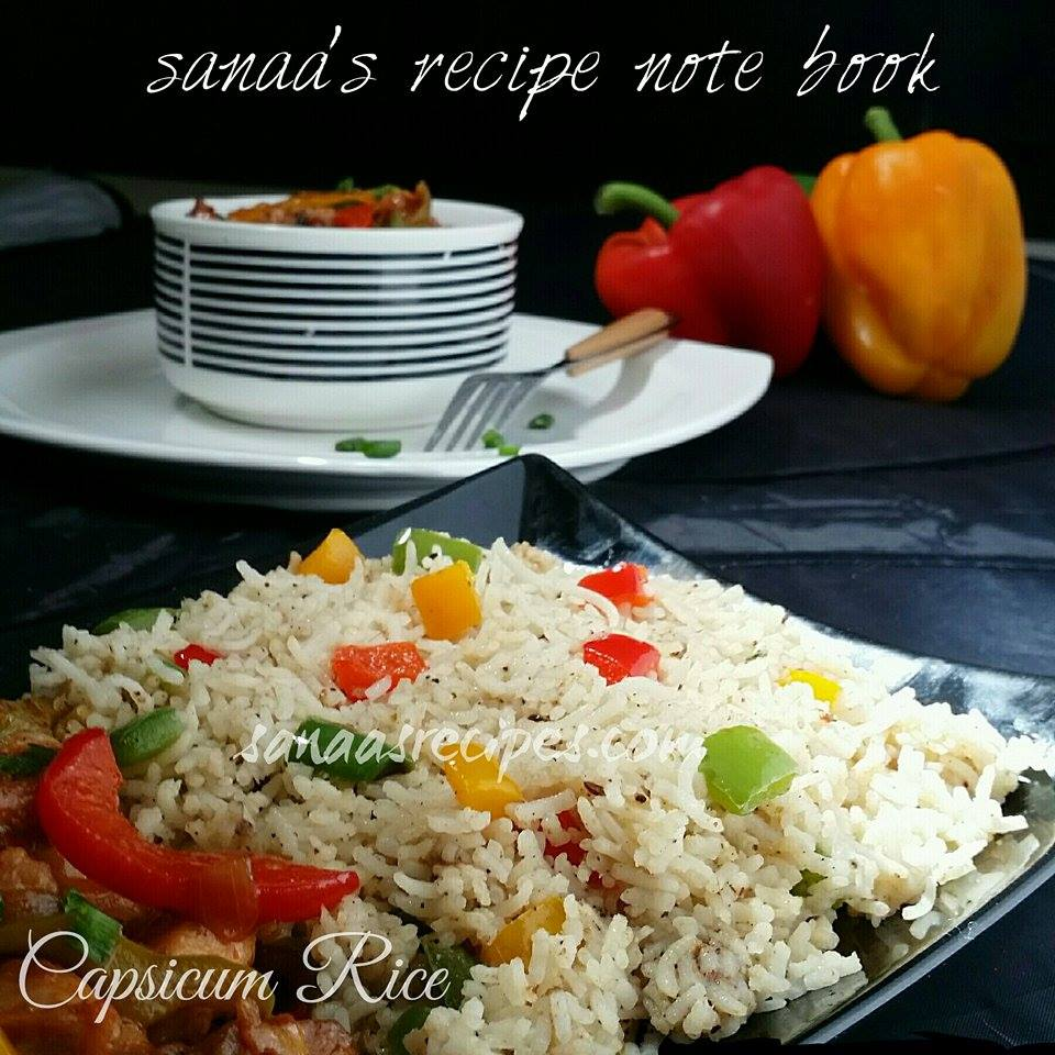 Capsicum Rice - sanaa's recipe