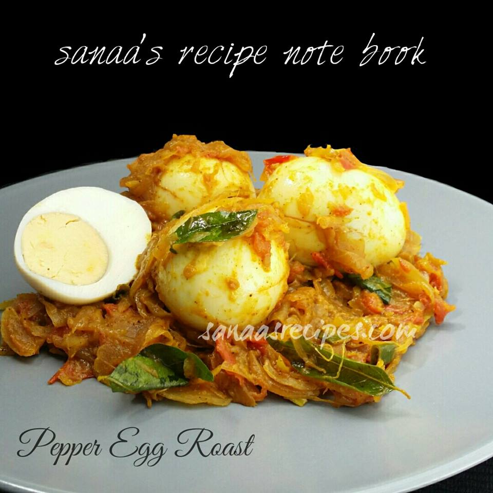 Pepper Egg Roast - sanaa's recipe