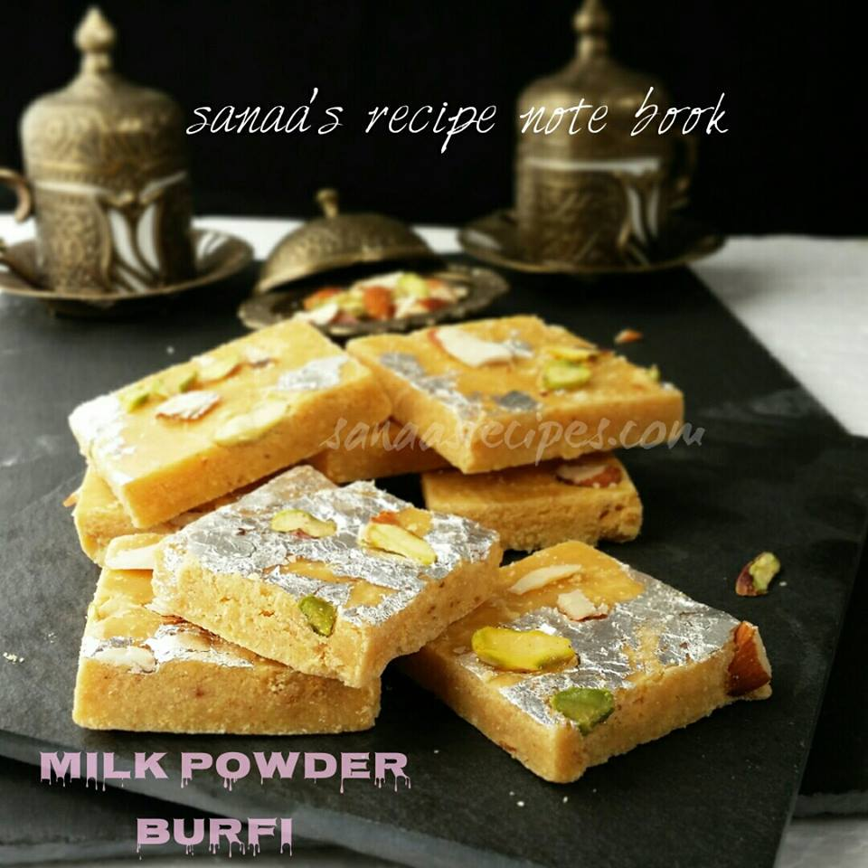 Milk Powder Burfi - sanaa's recipe
