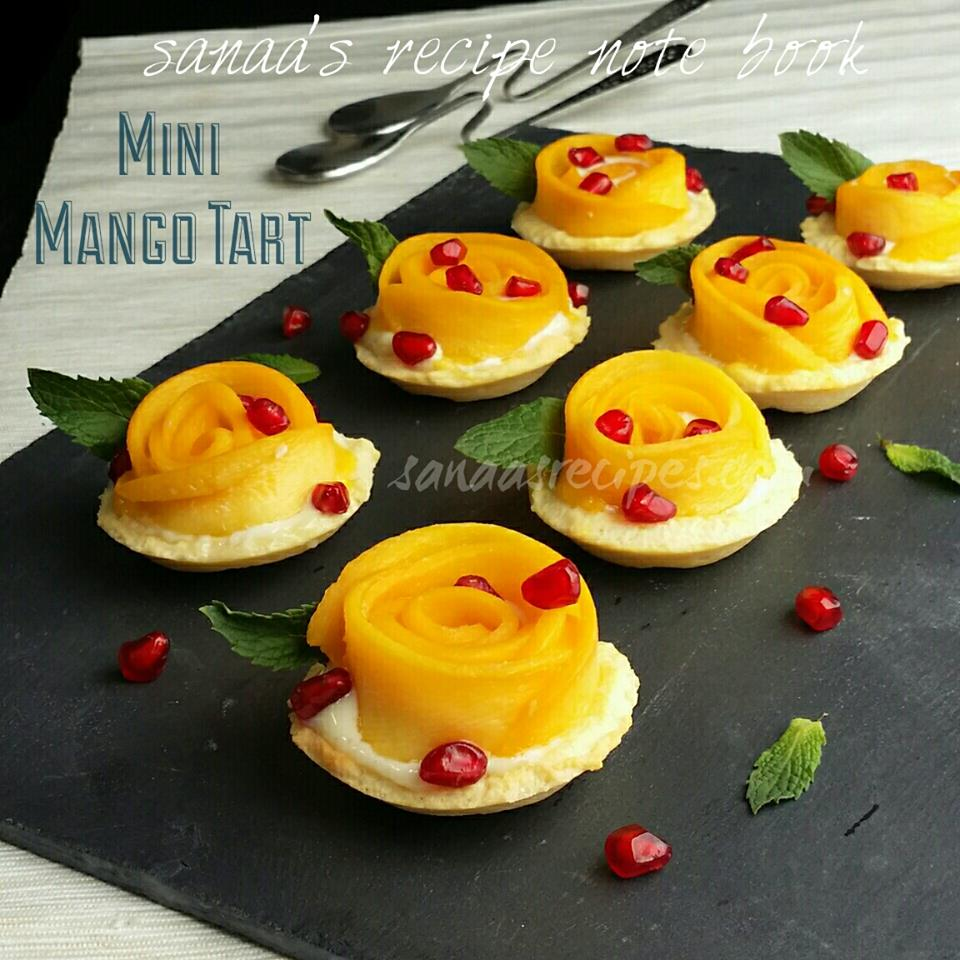 Mini Mango Tart  - sanaa's recipe