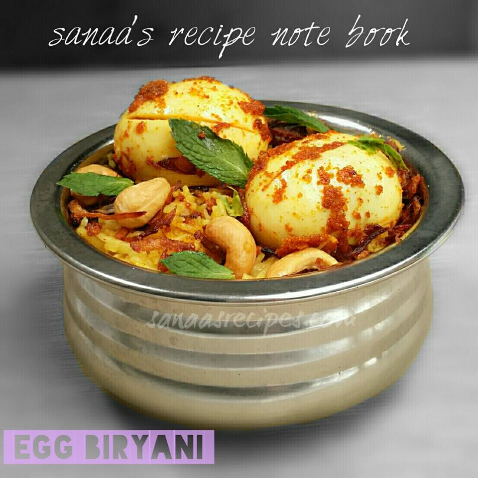 Egg Biryani - sanaa's recipe