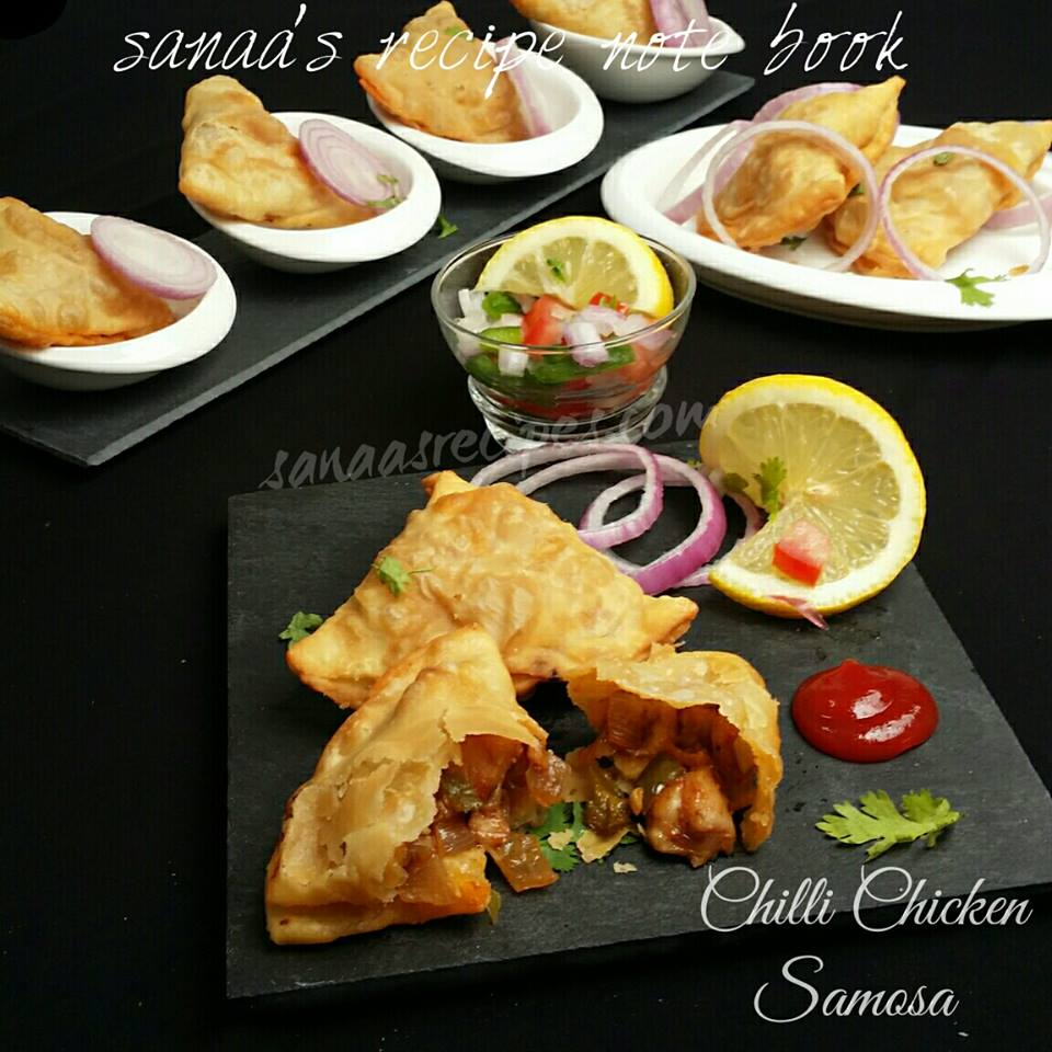 Chilli Chicken Samosa - sanaa's recipe