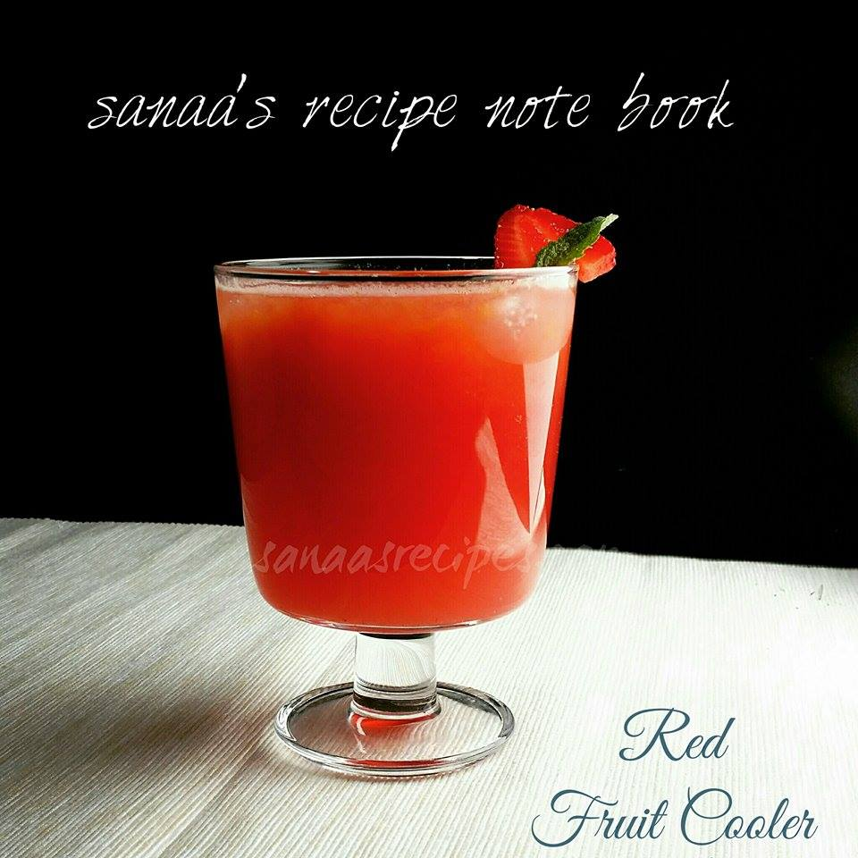 Red Fruit Cooler - sanaa's recipe