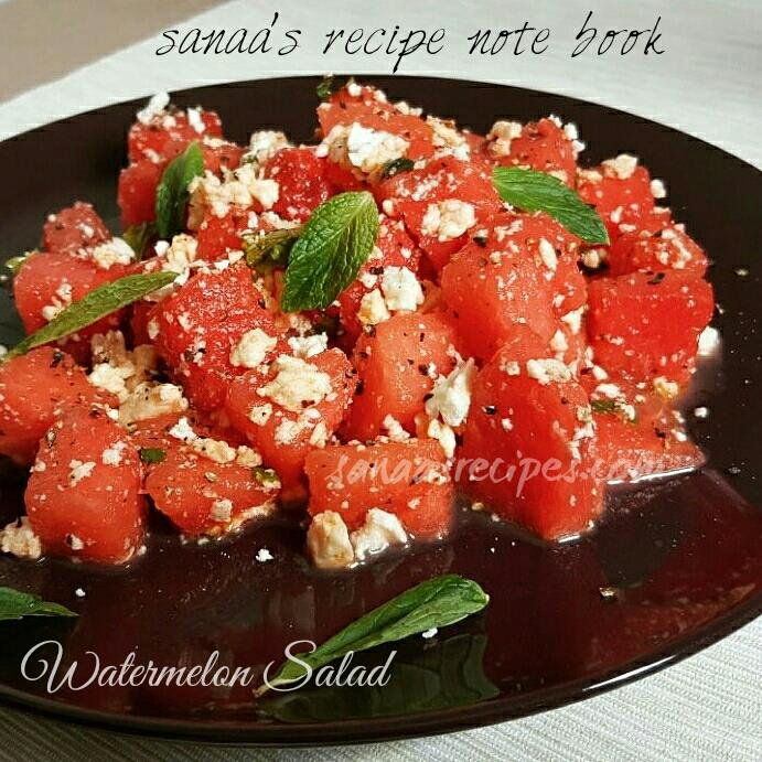 Watermelon Salad - sanaa's recipe