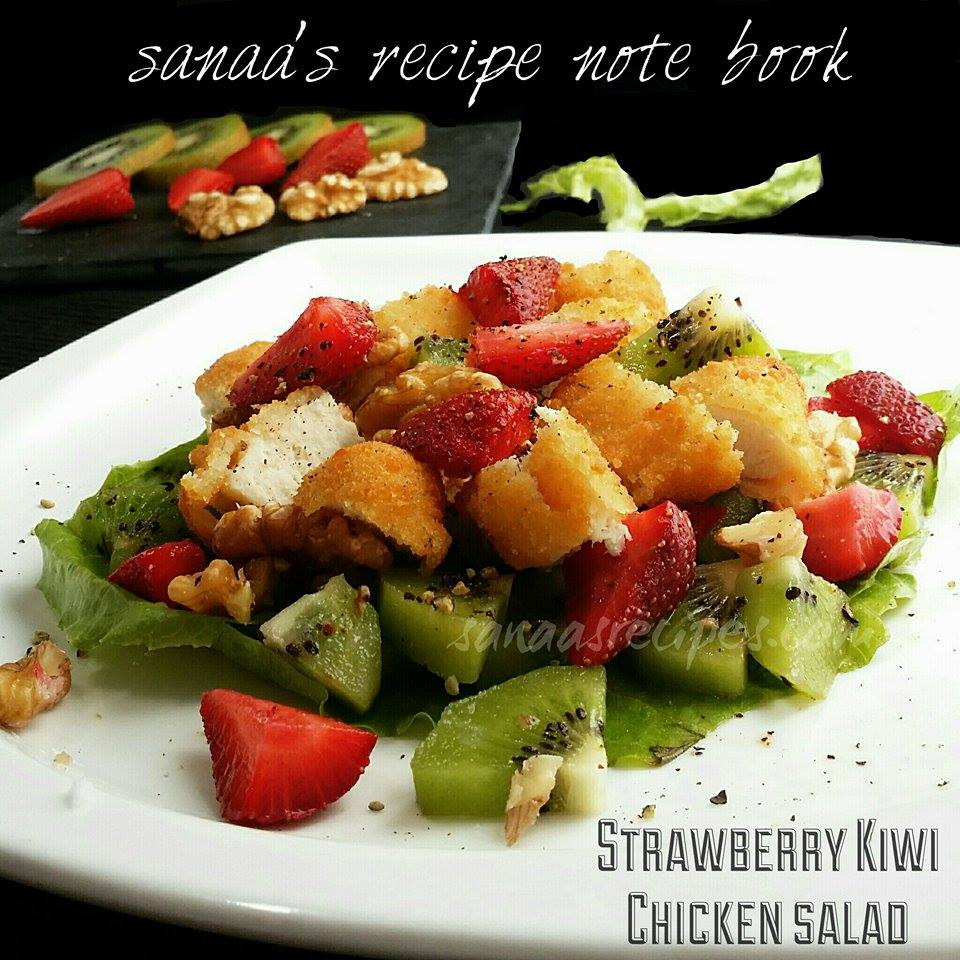Strawberry Kiwi Chicken Salad - sanaa's recipe
