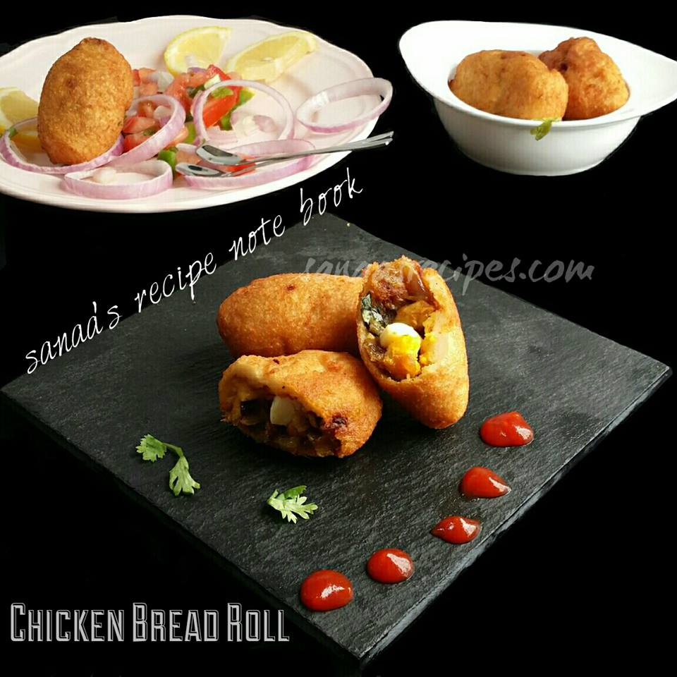 Chicken Bread Roll - sanaa's recipe