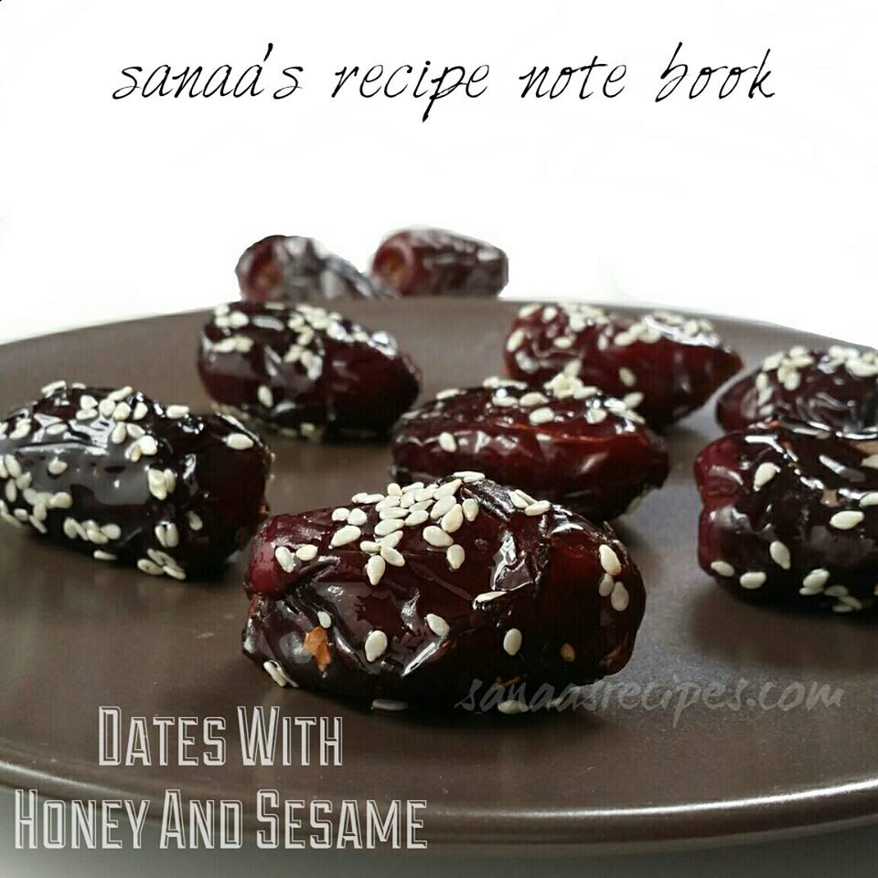 Dates With Honey And Sesame - sanaa's recipe