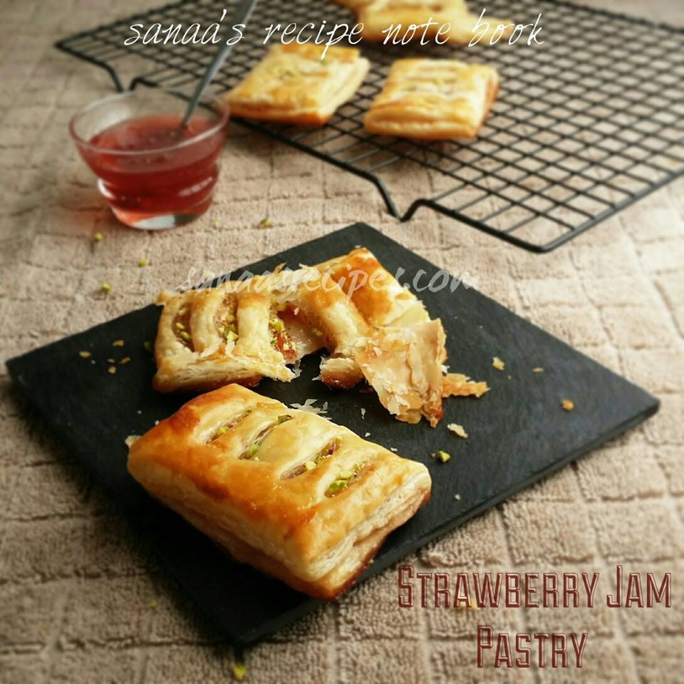 Strawberry Jam Pastry - sanaa's recipe