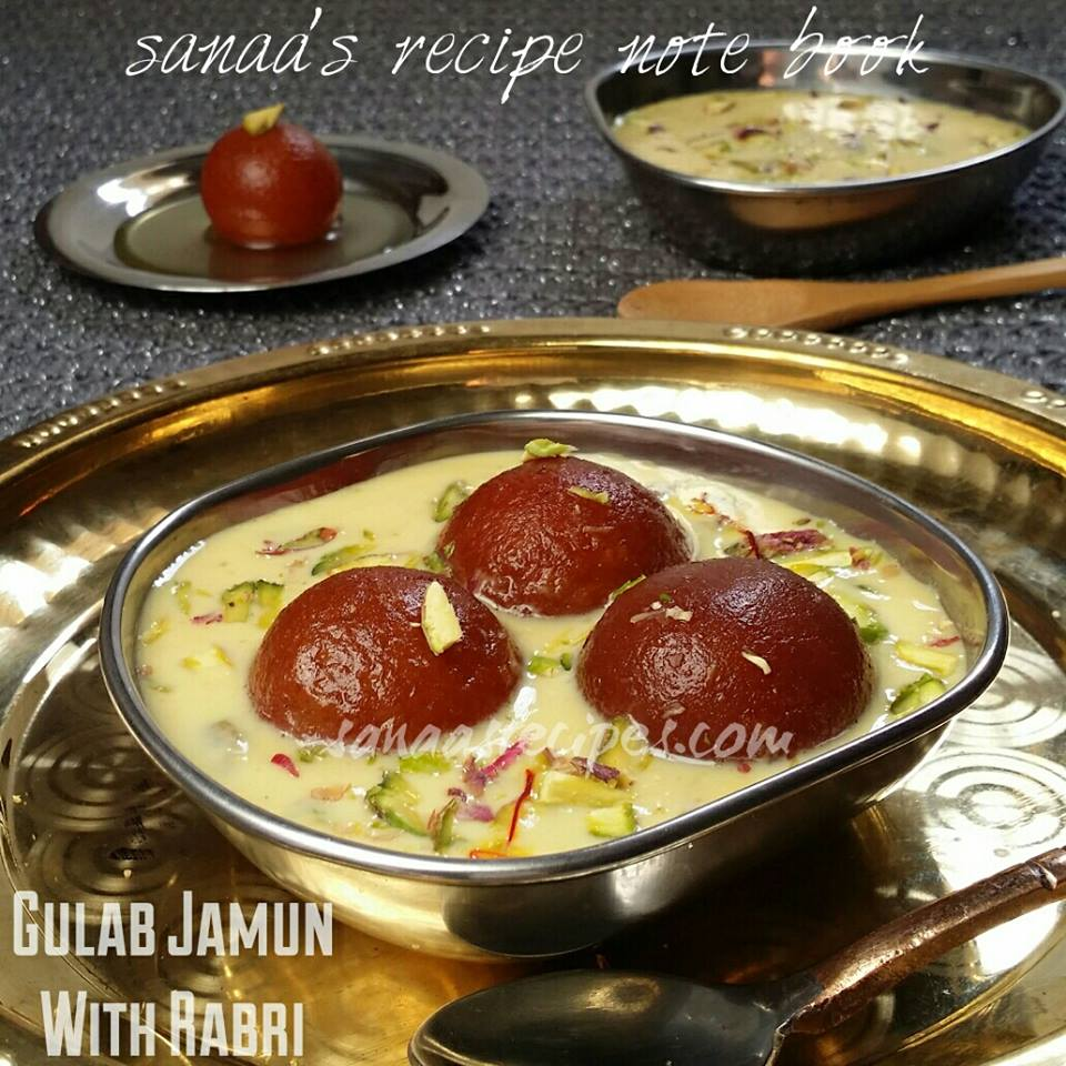 Chocolate And Cream Dessert - sanaa's recipe note book ... Gulab Jamun With Rabri