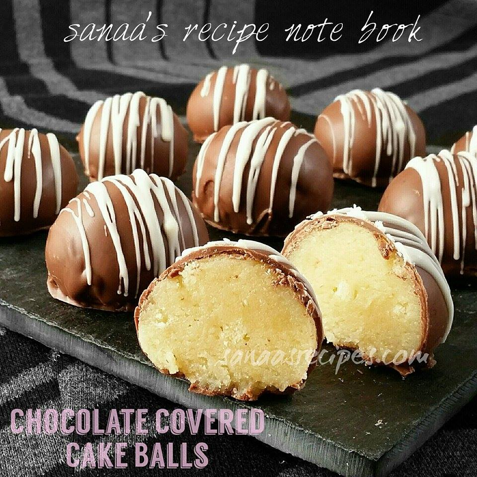 Chocolate Covered Cake Balls - sanaa's recipe