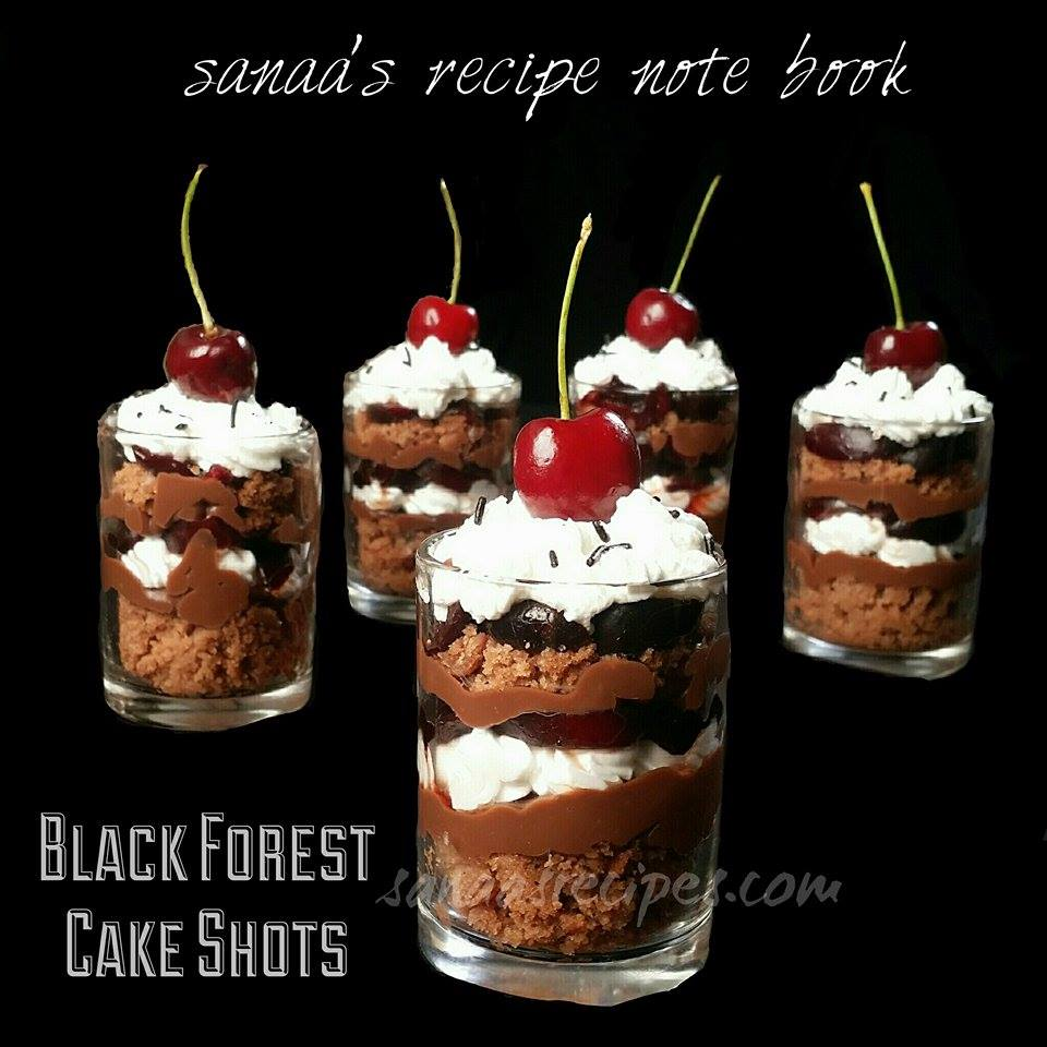 Black Forest Cake Shots - sanaa's recipe