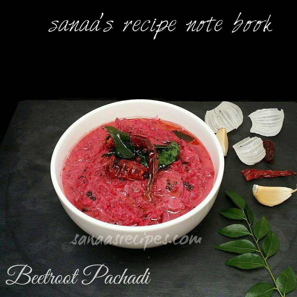 Beetroot Pachadi/ Beetroot Cooked With Curd And Coconut - sanaa's recipe