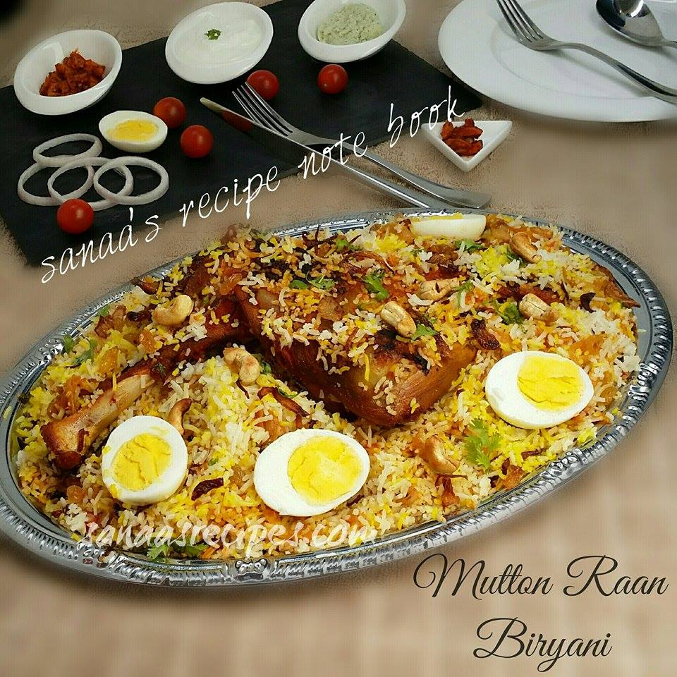 Mutton Raan Biryani - sanaa's recipe