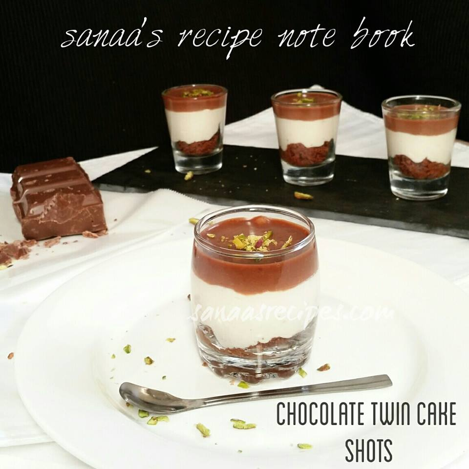 Chocolate Twin Cake Shots - sanaa's recipe